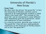university of florida s new essay