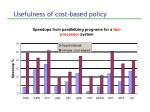usefulness of cost based policy