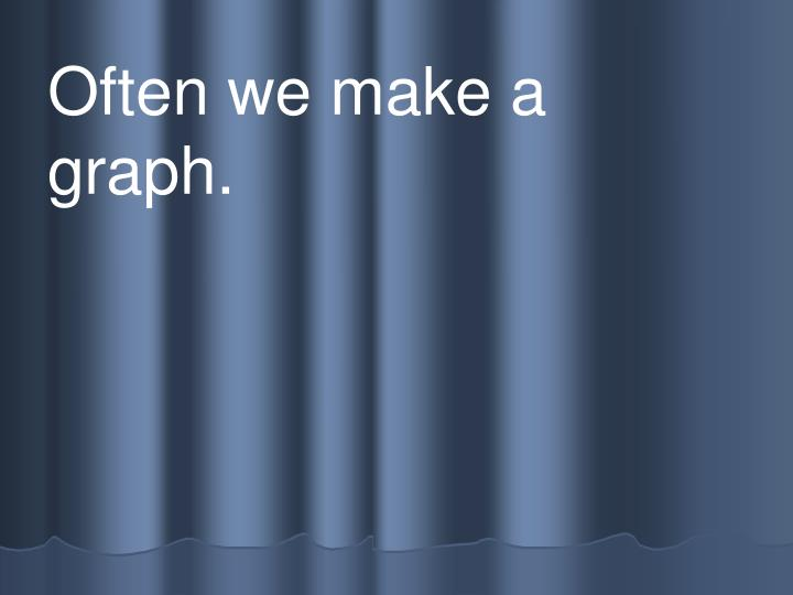 Often we make a         graph.