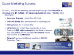 cause marketing success
