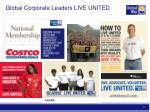 global corporate leaders live united