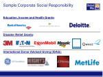 sample corporate social responsibility