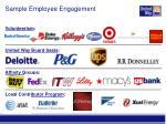 sample employee engagement
