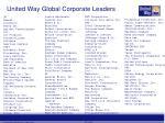 united way global corporate leaders