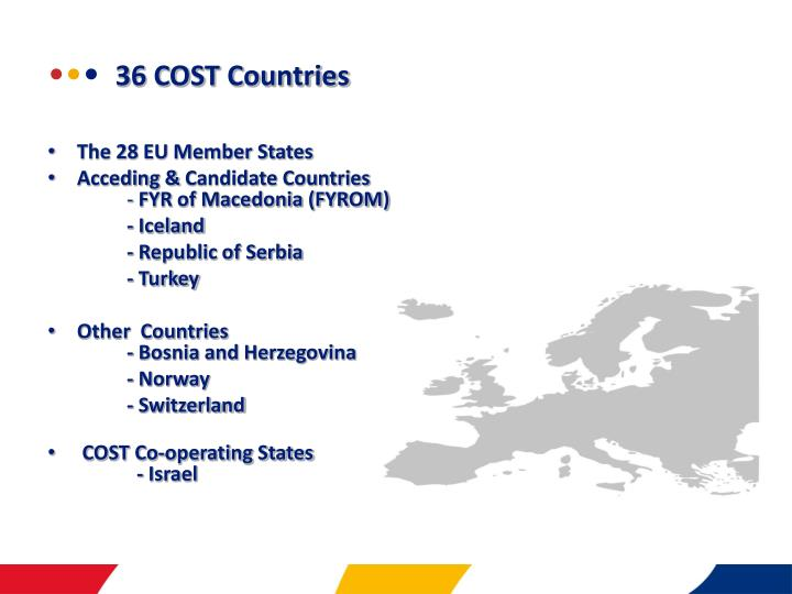 36 cost countries