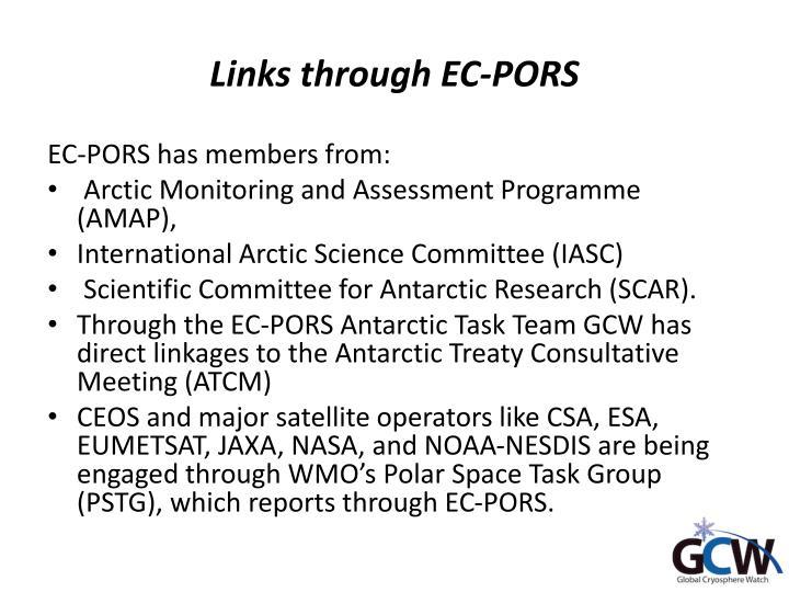 Links through ec pors