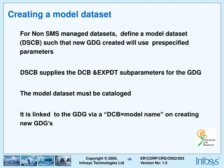 Creating a model dataset