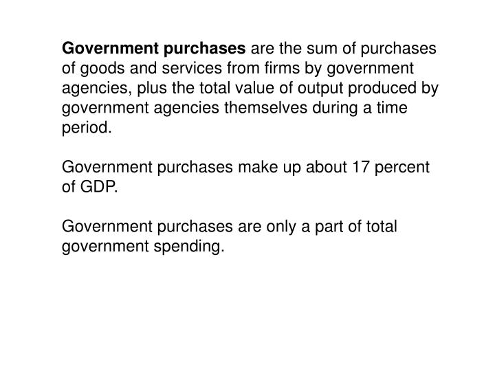 Government purchases