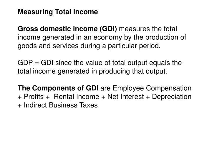 Measuring Total Income