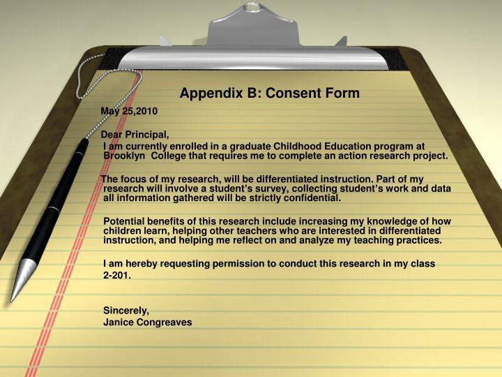 Appendix B: Consent Form