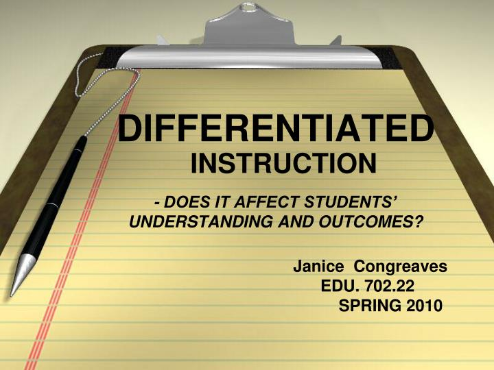 Does it affect students understanding and outcomes