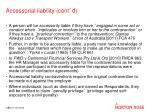 accessorial liability cont d
