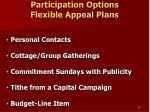 participation options flexible appeal plans