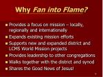 why fan into flame