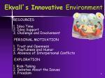 ekvall s innovative environment