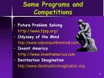 some programs and competitions