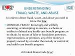 understanding fruad waste and abuse