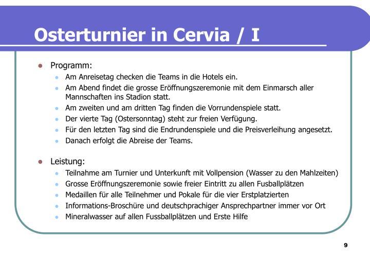 Osterturnier in Cervia / I