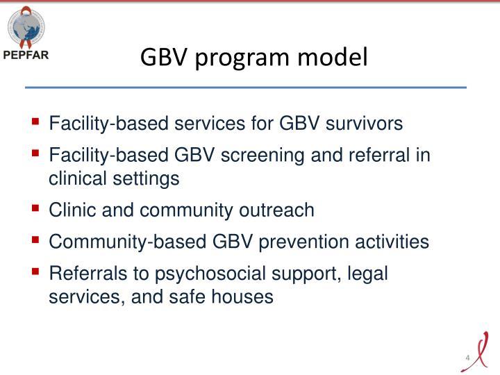 GBV program model