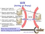 gcb acting as proxy