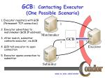 gcb contacting executor one possible scenario