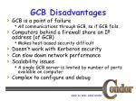 gcb disadvantages