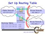 set up routing table1