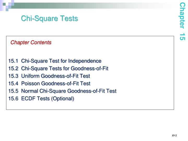 Chi square tests