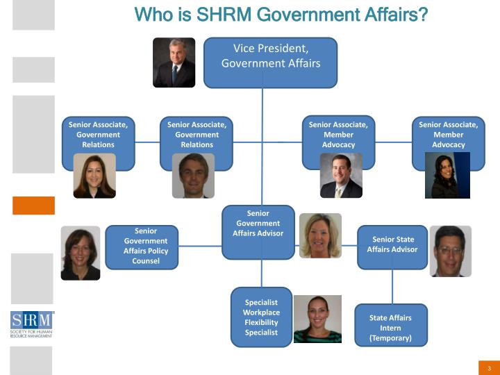 Who is SHRM Government Affairs?