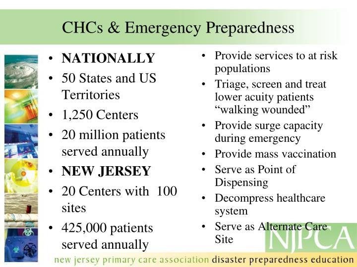 Chcs emergency preparedness