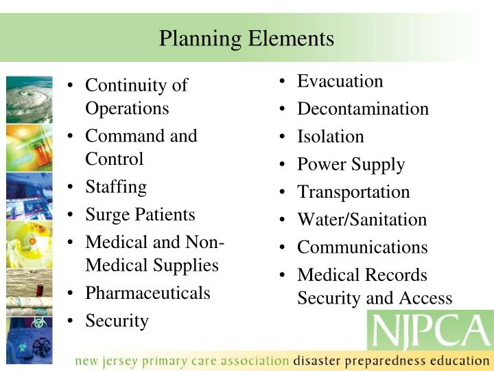 Planning Elements