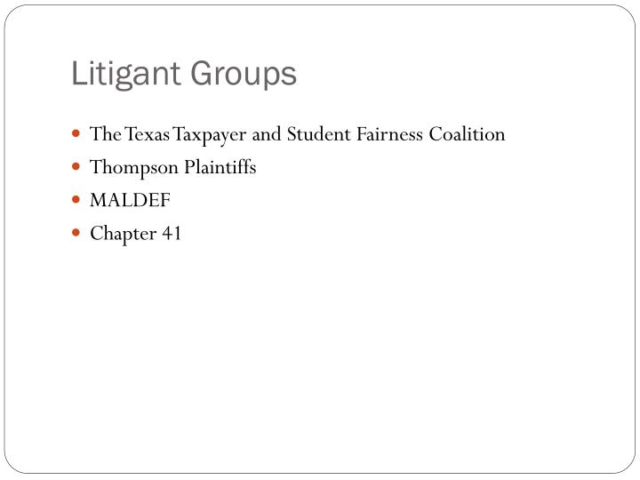 Litigant Groups