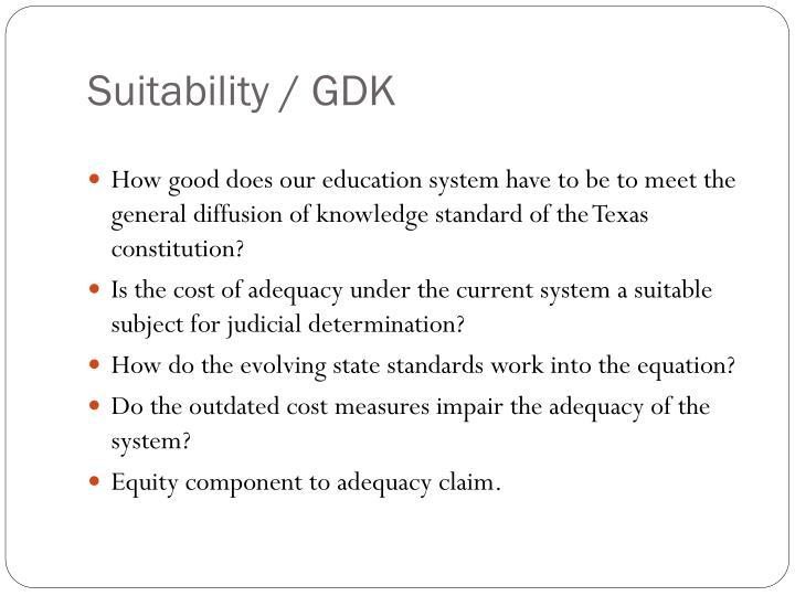 Suitability / GDK