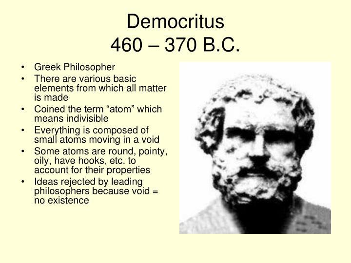 Democritus 460 370 b c