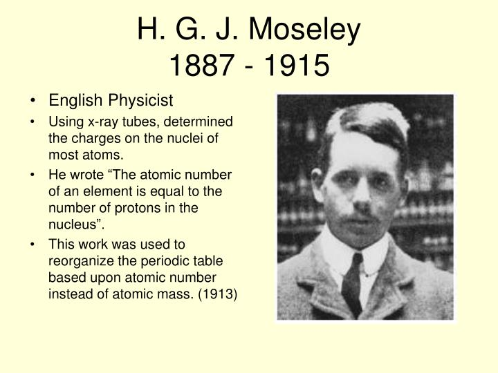 H. G. J. Moseley
