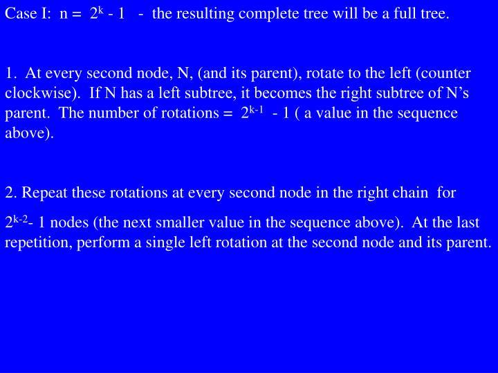 Case I:  n =  2