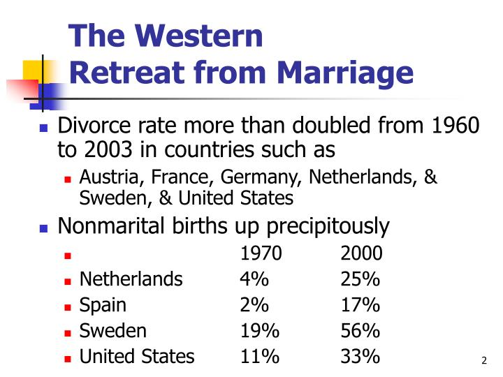 The western retreat from marriage