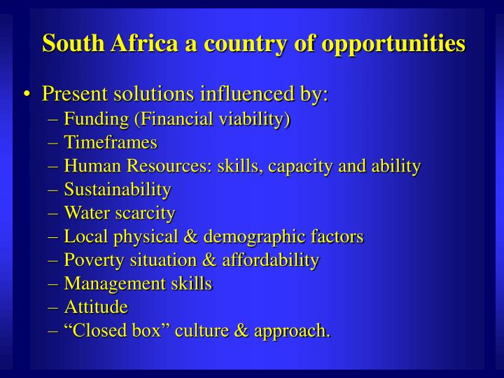 South africa a country of opportunities1