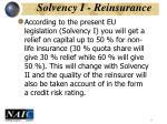 solvency i reinsurance