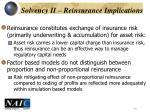 solvency ii reinsurance implications