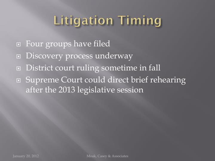 Litigation Timing