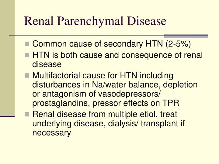 Renal Parenchymal Disease