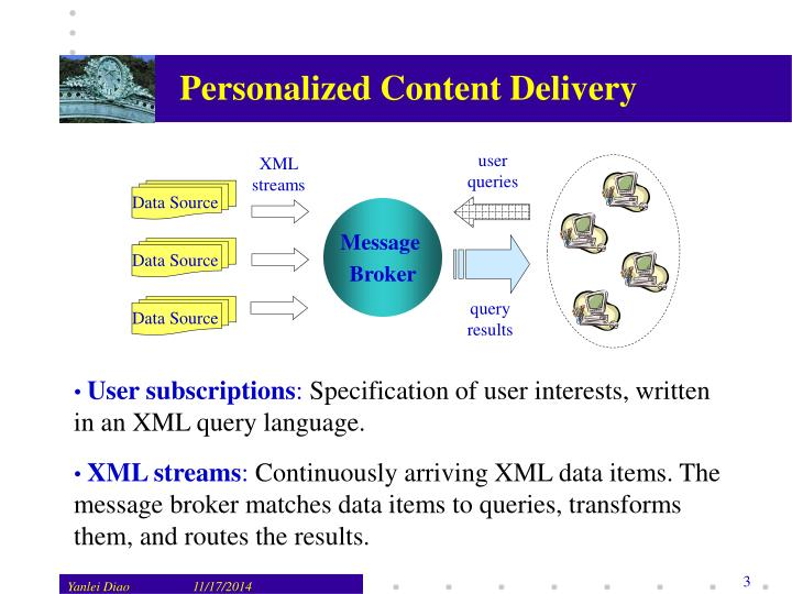 Personalized content delivery