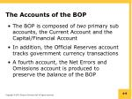 the accounts of the bop