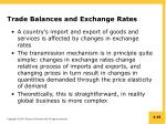 trade balances and exchange rates