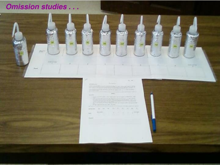 Omission studies . . .