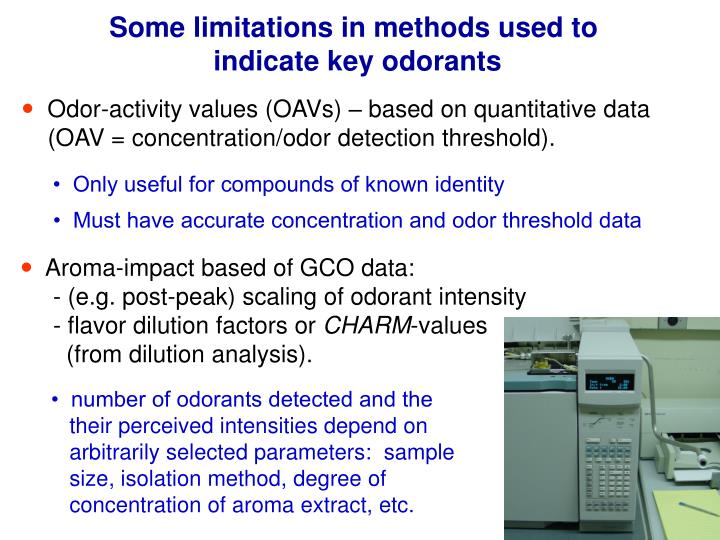 Some limitations in methods used to