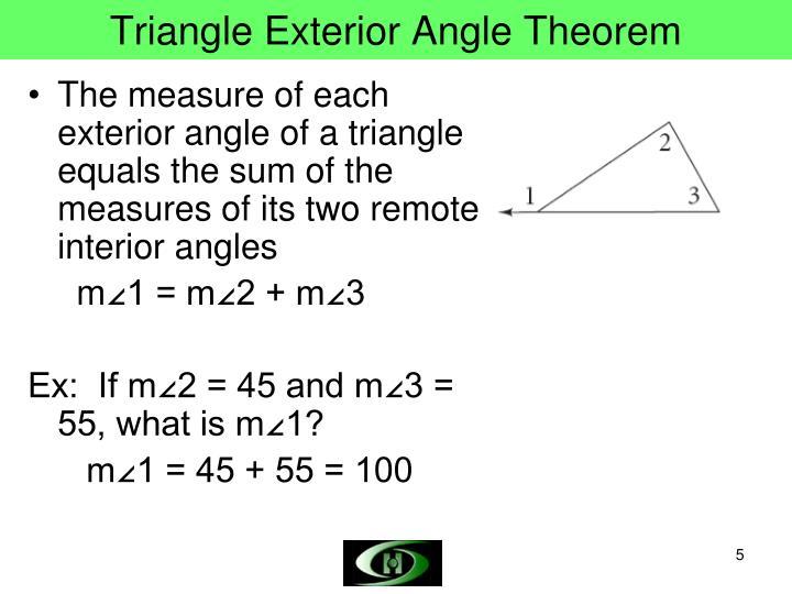 Triangle Exterior Angle Theorem