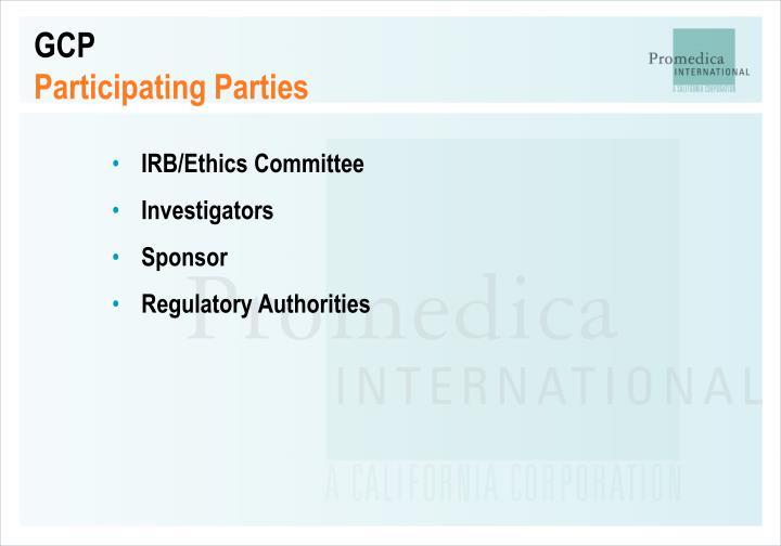 Gcp participating parties