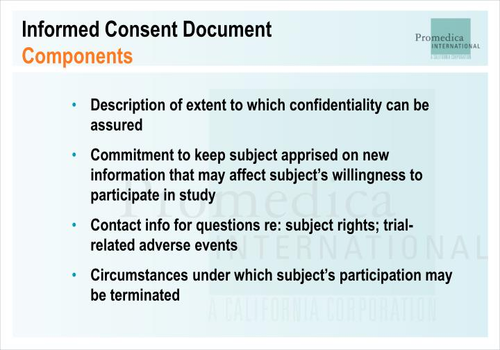 Informed Consent Document